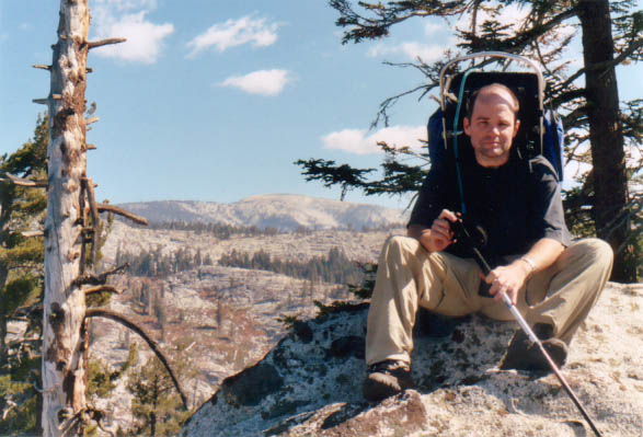 Dan on the western edge of the Hockett Plateau