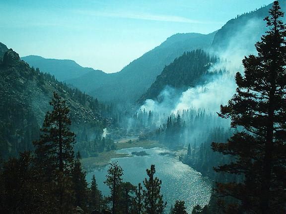 Little Kern Lake during the West Kern Fire.